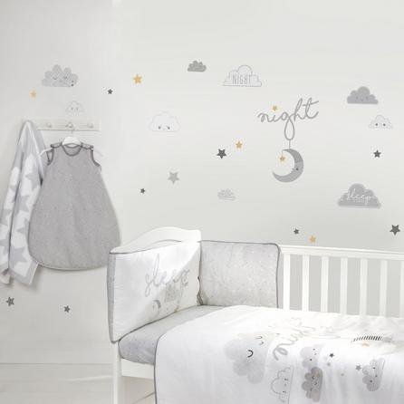 image-Floating Clouds Wall Stickers Grey