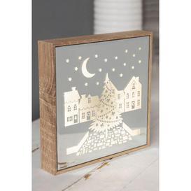 image-LED Light Up Christmas Plaque