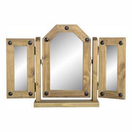 image-Corona Triple Swivel Mirror Brown
