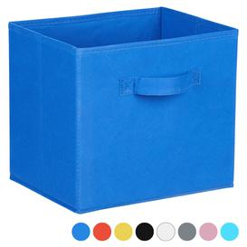 image-Hartleys Fabric Storage Box for 2, 3 & 4 Tier Cube Units - Blue