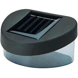image-Holmquist 12cm H Solar Powered Water Glass Outdoor Bulkhead Light