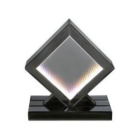 image-Orbit Smoked Mirrored Rainbow LED Diamond Table Lamp