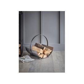 image-Burnished Steel Log Holder