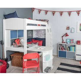 image-Kool European Single (90 x 200cm) High Sleeper Bed with Desk Stompa