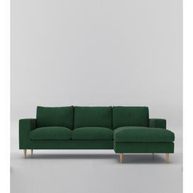 image-Swoon Evesham Right Corner Sofa in Hunter Smart Wool With Light Feet