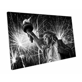 image-'Statue of Liberty National Monument' Photograph on Wrapped Canvas East Urban Home Size: 100 cm H x 128 cm W