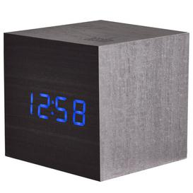 image-Ark Digital Wood Electric Alarm Tabletop Clock Acctim