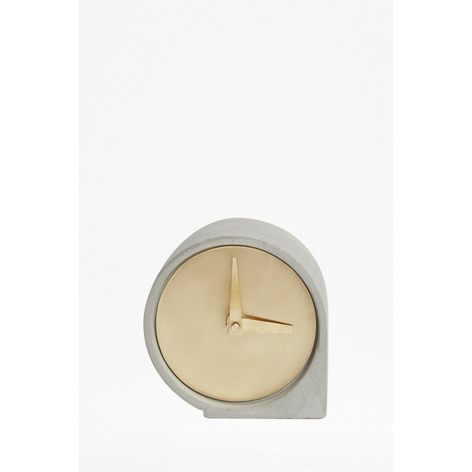 image-Concrete Desk Clock - grey