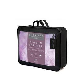 image-Downland Cotton Percale Mattress Topper