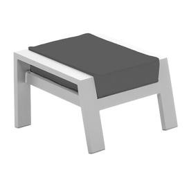 image-Thorbern Stool with Cushion Sol 72 Outdoor Colour (Fabric): Grey, Colour (Frame): White