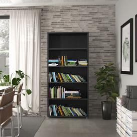 image-Shepshed Bookcase Mercury Row Colour: Black