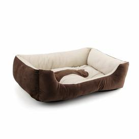 image-Acosta Bolster Cushion in Brown Archie & Oscar Size: Medium (50cm W x 38cm D x 15cm H)