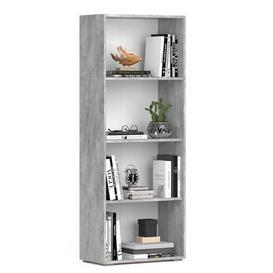 image-Samime Bookcase Mercury Row Colour: Concrete Grey