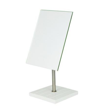 image-Tongue and Groove Pedestal Mirror White