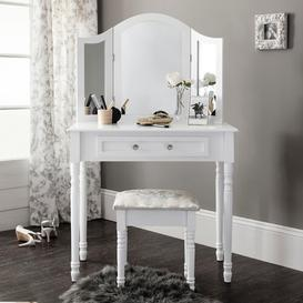 image-Aden Dressing Table Set With Mirror Lily Manor