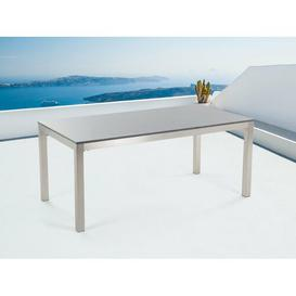 image-Chetna Stainless Steel Dining Table Sol 72 Outdoor Colour: Grey