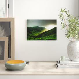 image-Landscape Light over Mountains Photographic Print on Canvas Big Box Art