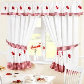 image-Oswald 5 Piece Kitchen Curtain and Pelmet Set