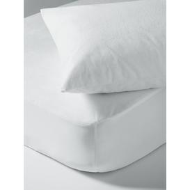 image-little home at John Lewis Children's Waterproof Terry Towel Single Mattress Protector and Pillow Protector Set