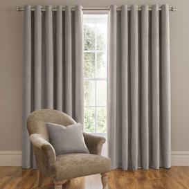 image-Dorma Lymington Grey Eyelet Curtains Grey