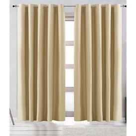 image-Arteaga Solid Eyelet Sheer Curtain Mercury Row Colour: Natural, Panel Size: 300 W x 255 D cm