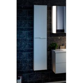 image-Scera 31.5 x 158cm Wall Mounted Tall Bathroom Cabinet Fackelmann Colour: White, Orientation: Right