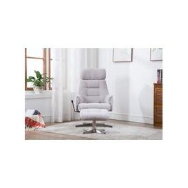 image-GFA Auckland Swivel Recliner Chair with Footstool - Plume Fabric