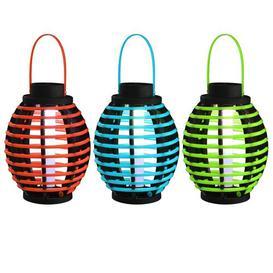 image-Bland Red/Blue/Green Solar Power LED Outdoor Lantern Freeport Park