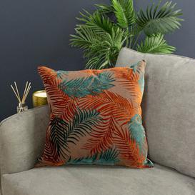 image-Eufaula Palm Grove Velvet Cushion with Filling Bay Isle Home