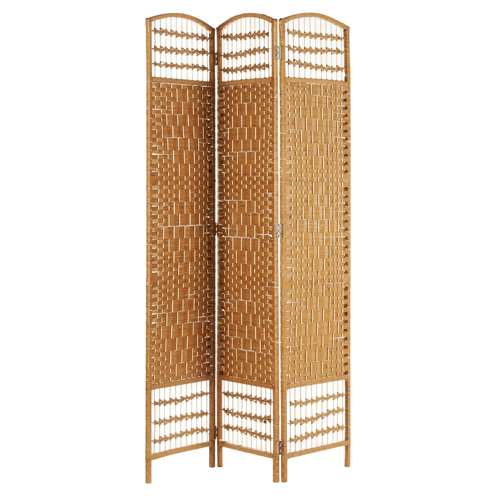 image-Hartleys Hand Made Wicker Room Divider - Natural - 3 Panel