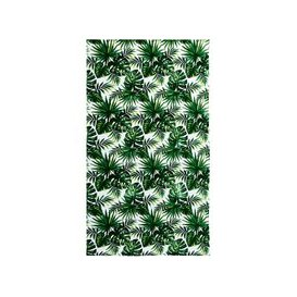 image-Velours Beach Towel with Tropical Print 100x180