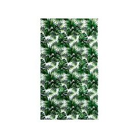 image-Velvet Terry Beach Towel with Tropical Print 100x180