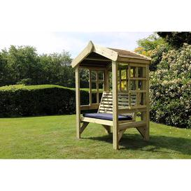 image-Churnet Valley Cottage 2 Seater Garden Arbour Trellis Back and Sides