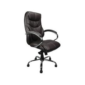 image-Kintyre Brown Leather Faced Executive Chair, Brown