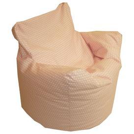 image-Kids Funzee Bean Bag Chair Mercury Row Upholstery: Cotton Pink  Polka