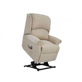 image-Celebrity Regent Fabric Standard Recliner Chair - Dual Motor Riser Recliner