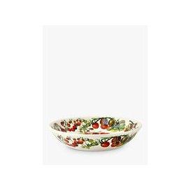 image-Emma Bridgewater Vegetable Garden Tomatoes Medium Pasta Bowl, 23cm, Red/Multi