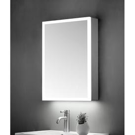 image-Critchlow 50cm x 70cm Wall Mounted Mirror Cabinet with LED Lighting Belfry Bathroom