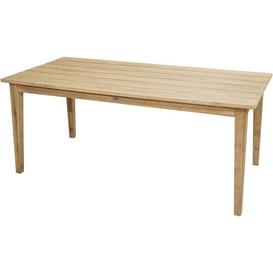 image-Bartleson Solid Wood Dining Table Sol 72 Outdoor Size: 75cm H x 220cm L x 100cm W