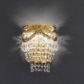 image-Pegaso Flush Wall Light Voltolina Size/Finish: 27cm H/24 k Gold