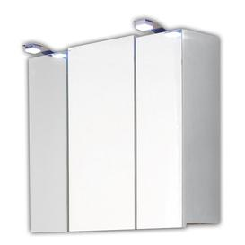 image-68cm x 71cm Surface Mount Mirror Cabinet with Lighting Belfry Bathroom Finish: White