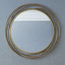 image-Pacific Lifestyle Metal Round Wall Mirror Antique Gold Antique Gold