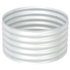 image-Garden Metal Planter Box Freeport Park Colour: Silver, Size: 44cm H x 80cm W x 80cm D