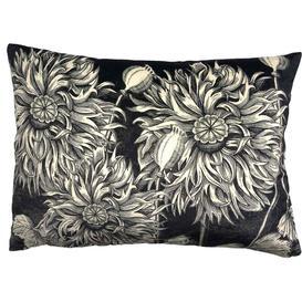 image-Black Swan Poppy Velvet Cushion