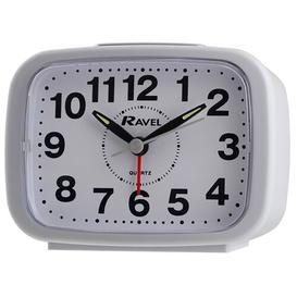 image-Kingston Bold Bell Alarm Clock Ravel Finish: White