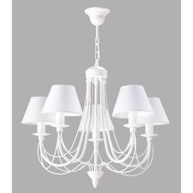 image-Arie 5-Light Shaded Chandelier BelleFierté