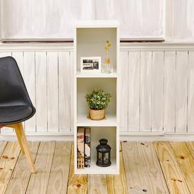 image-Narrow Bookcase Symple Stuff Colour: White
