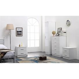 image-Tomaszewski 4 Piece Bedroom Set Symple Stuff Colour: Gloss White/Matt White