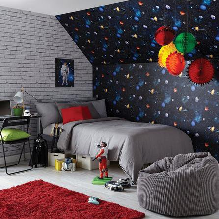 image-Cosmos Charcoal Wallpaper MultiColoured