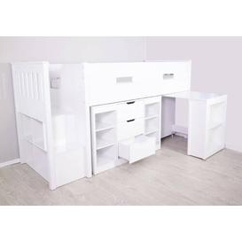 image-Charlie Single Mid Sleeper Loft Bed with Shelf and Drawers Isabelle & Max